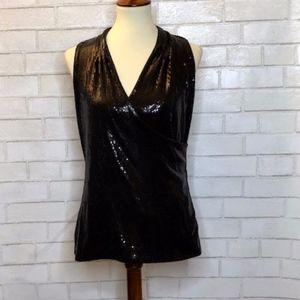 White House Black Market Sequin Blouse